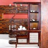 藤格格 9010 厂家批发实木书柜书架 藤编储物柜 带门书柜自由组合