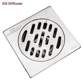 10*10自封防臭地漏陽臺衛生間浴室大排量地漏加厚不鏽鋼拉絲地漏