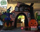 萬聖節南瓜小鬼門頭大堂門廳充氣裝飾用品、大明氣模外貿出口