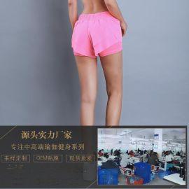 2017新款防走光双层速干跑步运动短裤 女 瑜伽透气健身运动热裤
