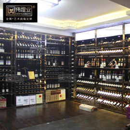 不锈钢酒架悬挂 家用欧式创意展示架壁挂葡萄酒架厂家直销
