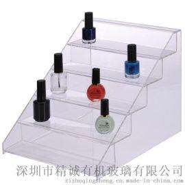 定制可拆卸梯形亚克力指甲油展示架 小型化妆品收纳盒