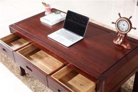 環保實木家具價格書房黃鳳梨木實木電腦桌