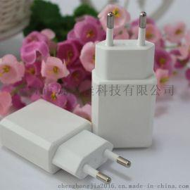 充电器单usb欧规充电头 单口usb充电器 平板手机通用手机充电头