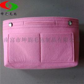 廠家供應大容量多功能毛氈收納包中包 化妝品收納包 定制logo