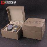 韩国市场高档包装盒 情侣对表盒 双表包装盒子 PU仿皮革盒