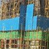 圆孔镀锌板爬架网      工地提升架     工地外围防护网