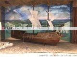 旧木船厂家 定做装饰景观特色仿古船