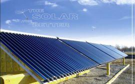 15噸中央熱水系統太陽能酒店熱水工程支架,集熱器熱水工程