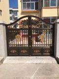 高档铝艺大门,别墅防盗门护栏,亚坤金属铝艺大门护栏