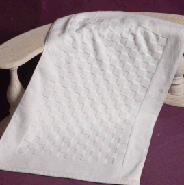 2017新款酒店宾馆提花地巾