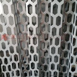铝冲孔蜂窝板冲孔幕墙挂板唯奥装饰板