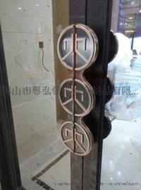 豪華不鏽鋼大門把手 玫瑰金不鏽鋼拉手供應
