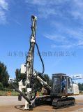 全液压露天顶锤式一体机钻机STR100