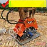 大中小挖掘机振动夯、液压平板夯、夯实回填土设备