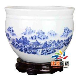 手绘陶瓷大缸 陶瓷大缸价格 陶瓷大缸图片
