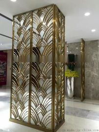 不锈钢屏风定制 酒店不锈钢隔断 不锈钢屏风花格 餐厅不锈钢屏风