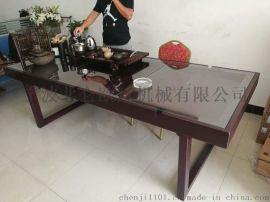 长平橡胶木沙盒桌 100%纯实木