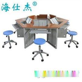 鋼制翻轉六角電腦桌-廣州市嘉傑恆翔信息科技有限公司