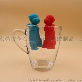 创意硅胶猴子泡茶器 硅胶滤茶器 厂家现货环保硅胶