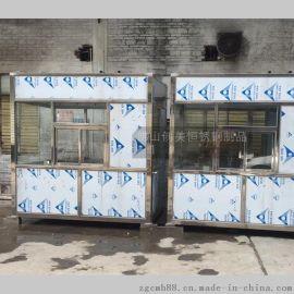简易不锈钢广告亭 治安亭 保安亭 包装空调 电路齐全 稳固耐用