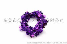 东莞市焕彩工艺饰品|铁丝花|紫色幸运草藤条
