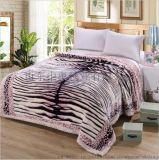 山東中奧定做3D印花6KG拉舍爾毛毯200×240cm雙層壓花經編滿穿