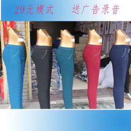 跑江湖地摊时尚春秋直贡呢女士弹力裤 高弹性弹力裤29元模式