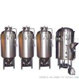 500升一托三拉丝银自酿啤酒设备