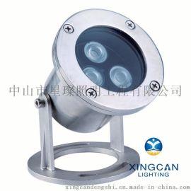 不锈钢全防水密封水下灯 外贸出口水底灯喷泉灯3W5W