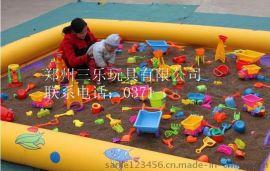儿童玩沙气垫配送决明子和玩具