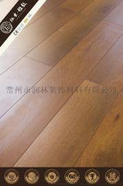 中式风格12毫米高密度仿菠萝格木强化复合木地板