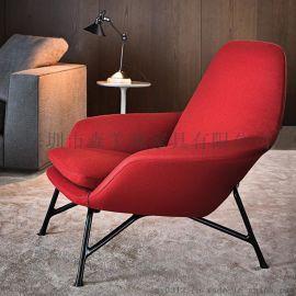 美式單人沙發金屬北歐後現代客廳設計師休閒沙發