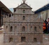澳门大三巴牌坊雕塑 供应教堂玻璃钢大三巴