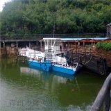 促销水葫芦收集清理船,水草打捞船,全自动割草船