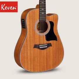 全桃花心木民謠吉他40寸41寸初學入門吉他男女生吉他樂器K3C