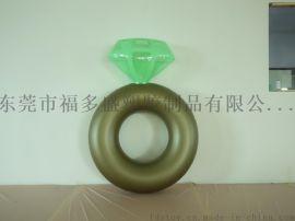 福多盛新款新品PVC充气泳圈 充气钻石戒指泳圈 钻石戒指浮排