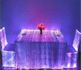 發光臺布 led光纖桌布 酒店宴會裝飾布 發光面料