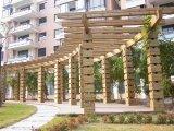 首佳木結構石家莊廊架棧道亭子花箱專業提供者