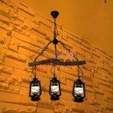 玛斯欧自主研发粗树枝三头煤油灯复古美式乡村餐吊灯酒吧复古装修吊灯MS-P9005