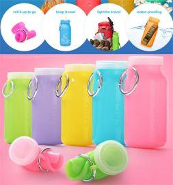 运动硅胶水壶旅行创意户外折叠水瓶