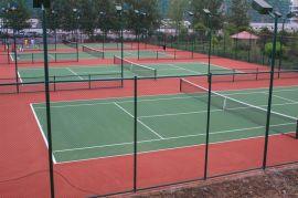 简单组装式球场围栏网,扁铁固定围网,钻尾自攻螺丝安装体育场围网