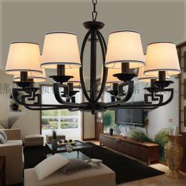 新中式吊燈餐廳吊燈茶樓中國風仿古大氣客廳現代簡約中式燈具