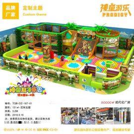 鄭州兒童樂園生產廠家  兒童淘氣堡樂園直銷廠家 神童遊樂