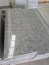 河南石材梨花白楼梯踏步 楼梯板 拉丝板 工厂直销价可大量出口
