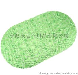 浴室防滑垫 椭圆气泡透明PVC防滑垫