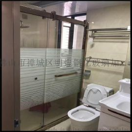 广东 玻璃厂家直销别墅落地窗热弯玻璃 8MM淋浴房弧形玻璃门 淋浴房玻璃定做