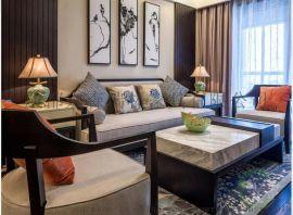 新中式沙發組合禪意現代簡約中式實木樣板房沙發會所定制別墅家具