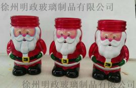 圣诞玻璃装饰品,圣诞蜡烛LED玻璃工艺品