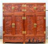 缅甸花梨顶箱柜古典中式红木衣柜价格实惠